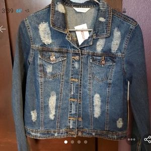 Juniors new with tags denim jacket
